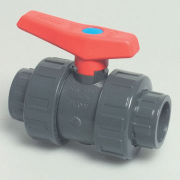 "0.75"" Grey PVC Double Union Ball Valve"